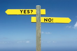 yes or no Counselling sign